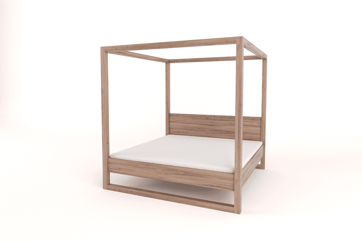 King Size 4-Poster Bed with Headboard