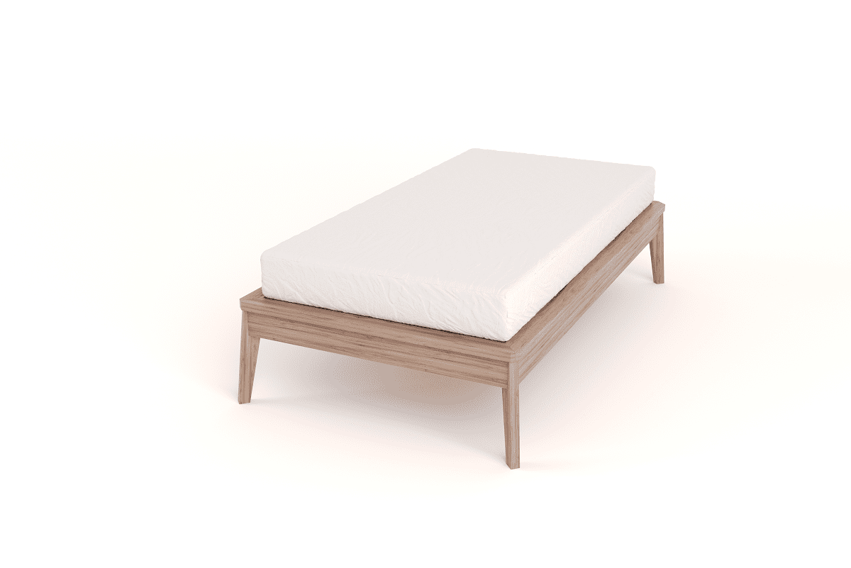 wooden bed base single