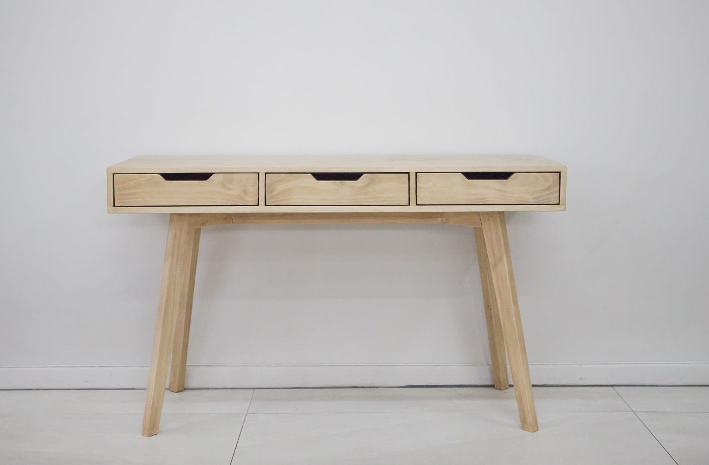 wood desk with 3 drawers for sale