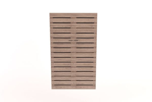 wooden Wardrobe with Slatted Doors