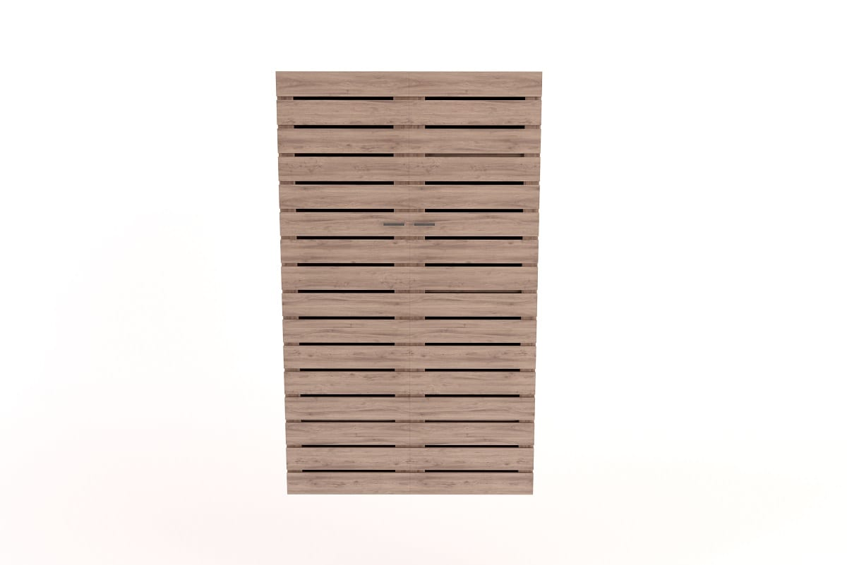 Wardrobe with Slatted Doors
