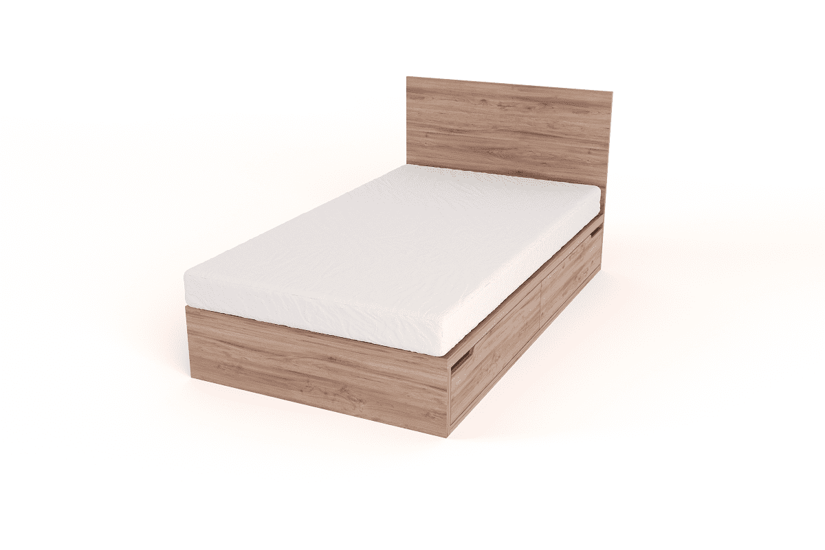 Bedroom Furniture Drawer Bed with Headboard – 3/4 beds
