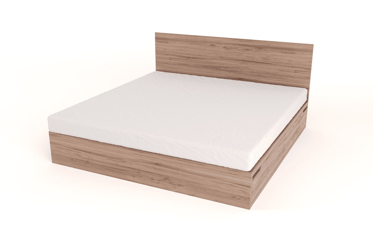 drawer bed with headboard king size