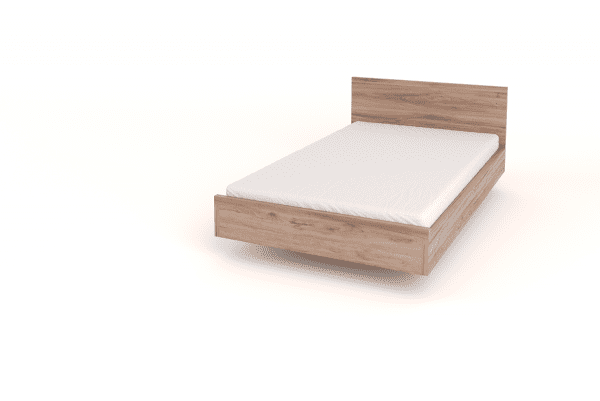 floating bed with headboard wood
