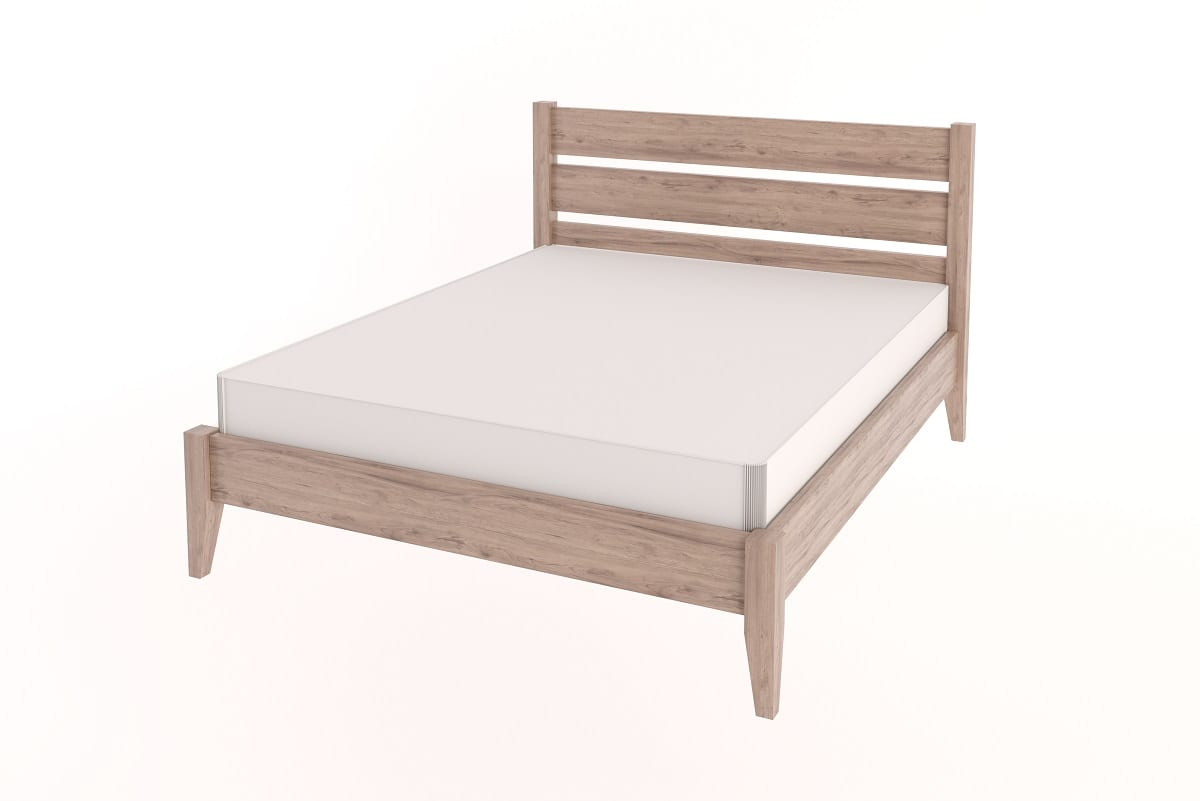 Queen Tapered Bed with Headboard