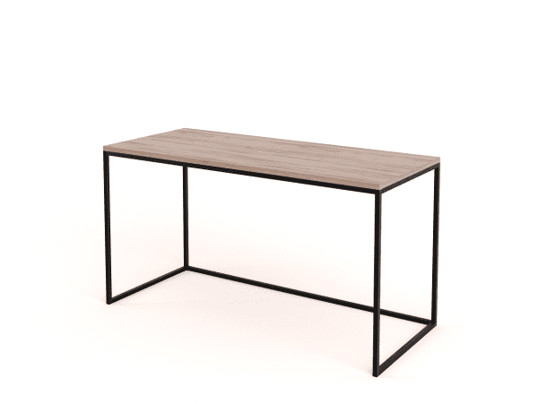 steel frame wooden desk