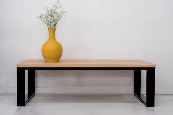 Lucy Style Wood and Steel Coffee Table