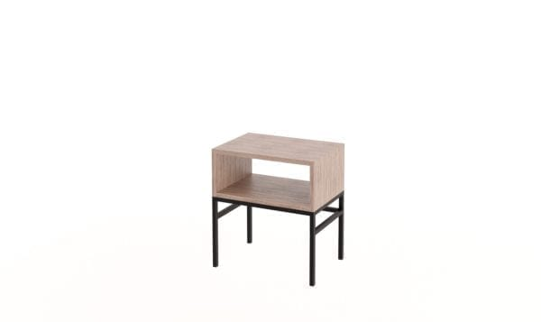 Cube Side Table Steel Base