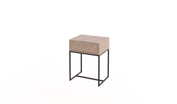 Steel Side Table with Drawer
