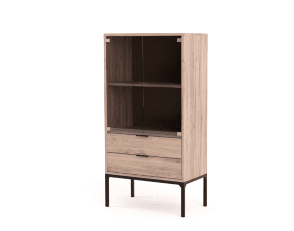 Cabinets & Servers Utility Display Cabinet with Glass Doors Cabinets and Servers