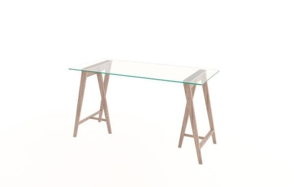 Glass Trestle Desk