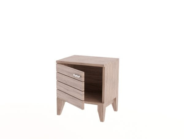 Slatted Door Side Table