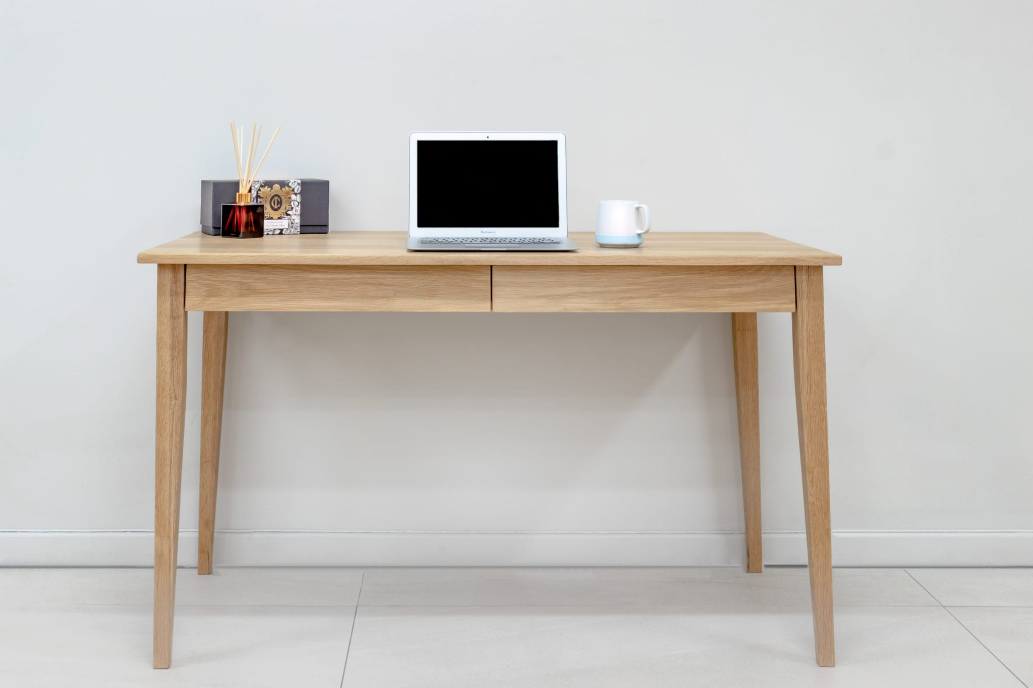 Wood Desk With Drawers