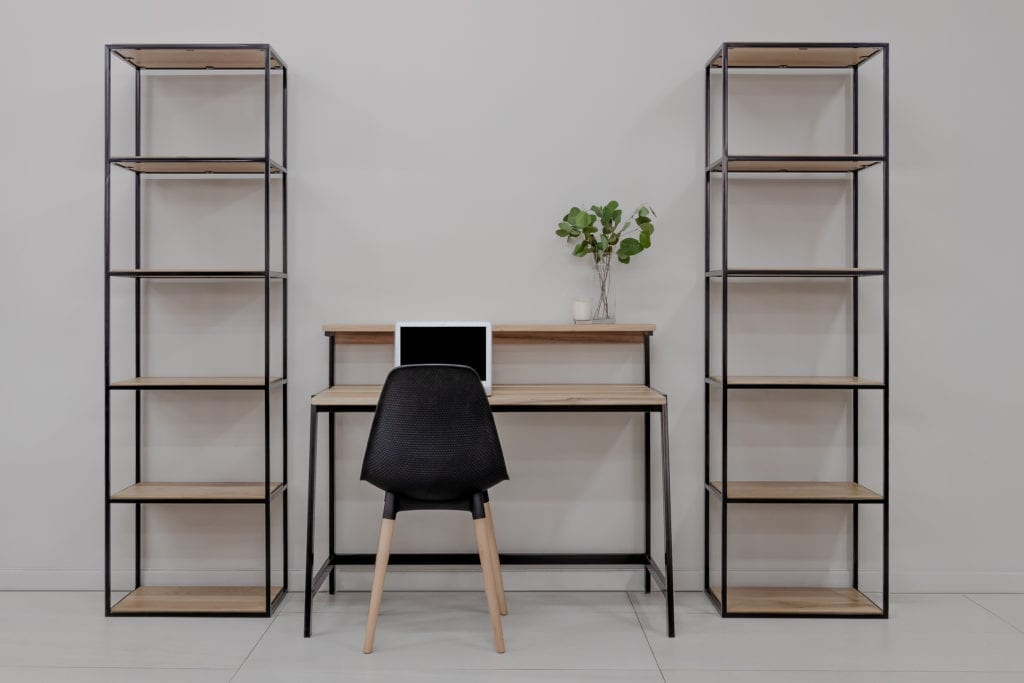 Solid Wood and Steel Shelving - Bookcases Displays and shelves