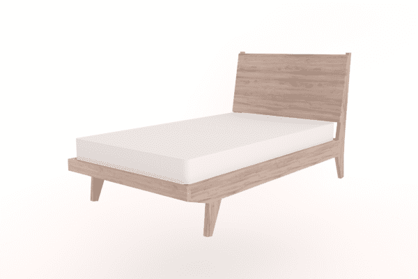 3/4 wooden bed with headboard